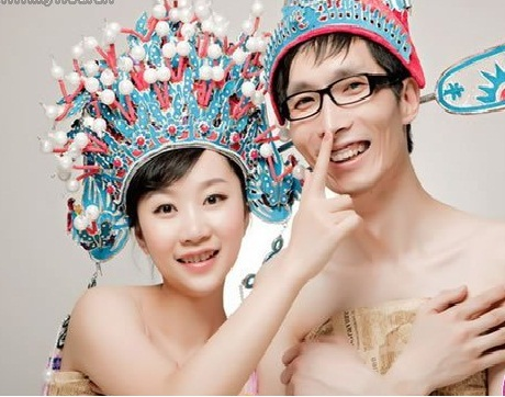 素颜照 2013年最新韩式婚纱照新娘 2013年最流行的5大婚纱照风  80后9