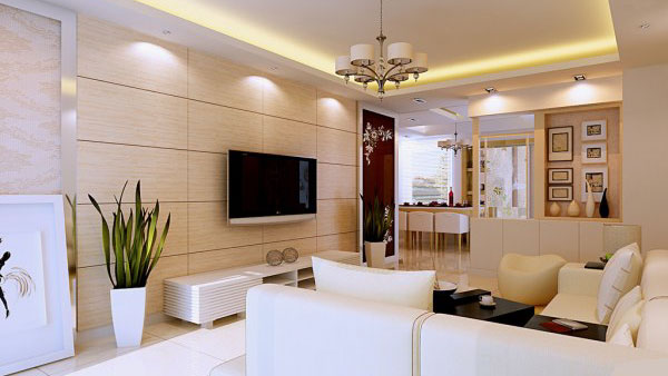 家装复式楼房客厅简装修图片 - 2013客厅装修